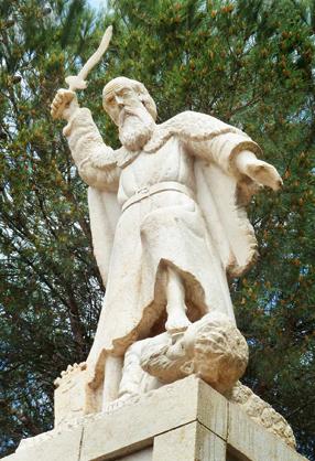 statue-of-elijah-mukhraka-israel