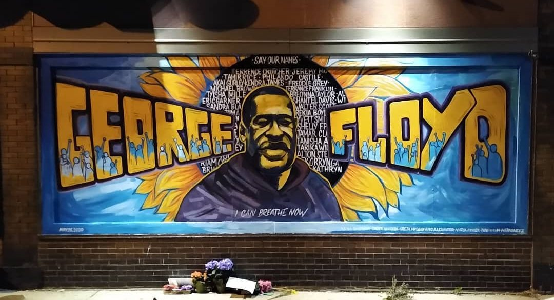 Mural to commemorate George Floyd's death (Photo by Connor Barth)